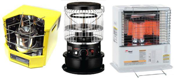 Несколько моделей керосиновых инфракрасных обогревателей