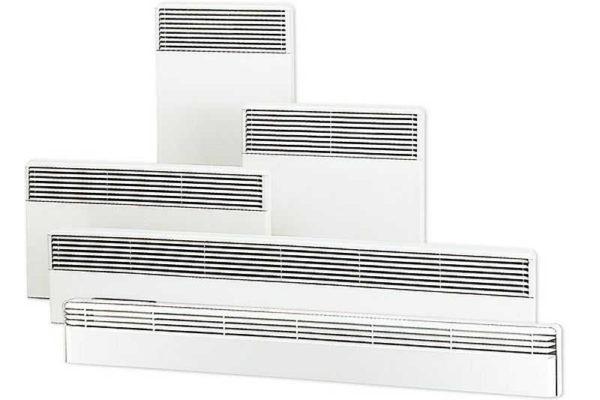 Для отопления электрическими конвекторами можно выбрать модели под любой участок стены