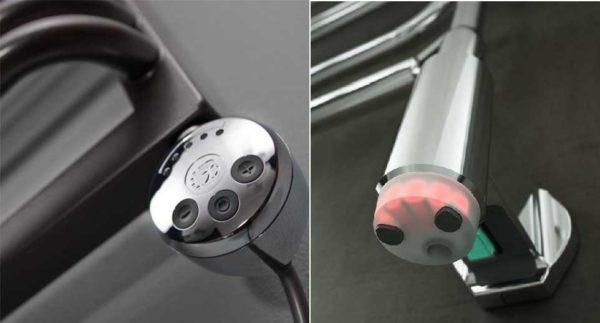 Терморегулятор обычно находится на одном из концов корпуса. Могут быть модели с регулятором на вилке
