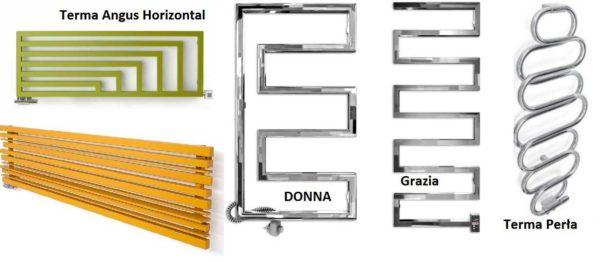 Вертикальные и горизонтальные электрические полотенцесушители смотрятся по-разному