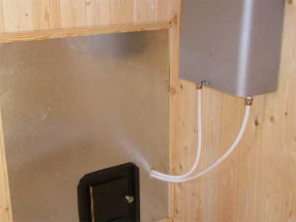 Подключение теплообменника к банной печки