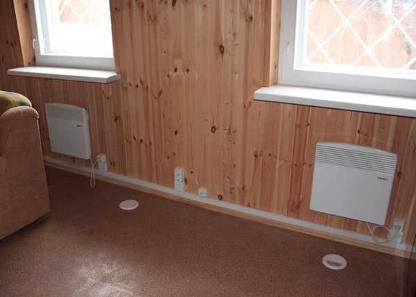 Отопление в бане при помощи конвекторов. Просто, но дорого и не всегда надежно