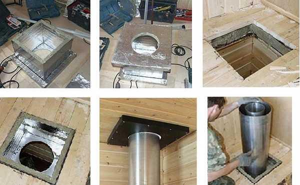 Подготовка и установка потолочной проходки