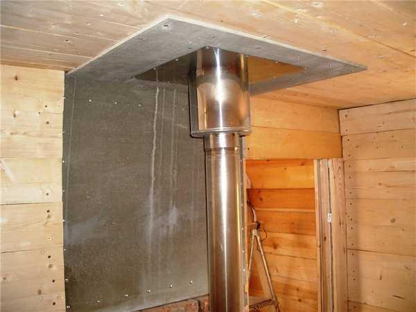 Изготовить узел прохода через потолок можно своими руками