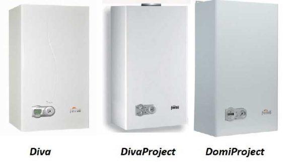 Три модели настенных газовых котлов Ferroli: Diva, DivoProject, DomiProject