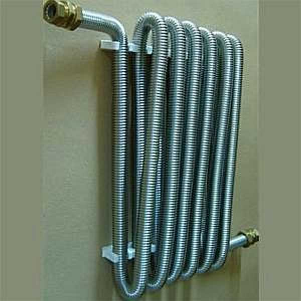 Из гофрированной нержавеющей трубы делают даже радиаторы