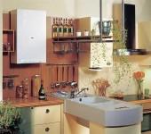 Газовый котел в квартире чаще устанавливают на кухне
