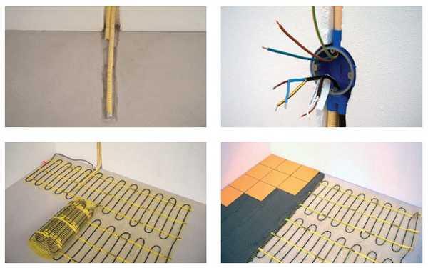 Установка электрических кабельных матов под плитку