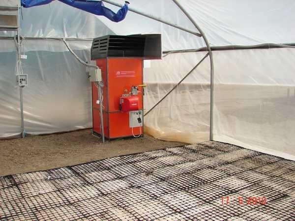 Газовые или жидкотоплвные конвекторы - еще один вариант обогрева теплицы теплым воздухом