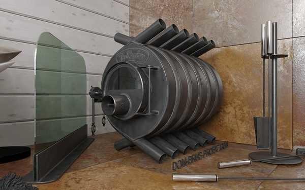 Конвекторная печь на твердом топливе