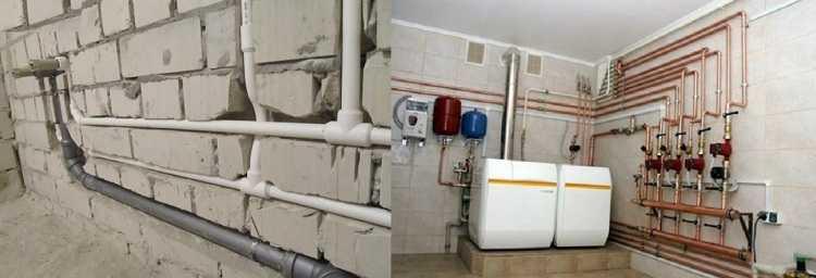 При выборе труб для отопления нужно определиться с тем, как их будете прокладывать
