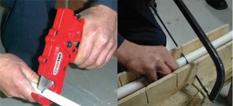 Резать тубу можно специальными ножницами-труборезом или по-старенке ножовкой по металлу, но необходимо выдерживать перпендикулярность среза