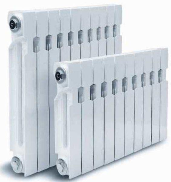 Расчет радиаторов зависит от потерь тепла помещением и номинальной тепловой мощности секций