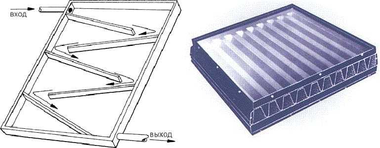 Пластиковые коллекторы служат для нагрева воды. Отличный вариант для летнего домика или дачи