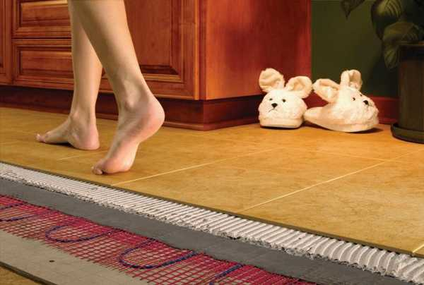 Теплый пол под плиткой - это очень приятно и комфортно