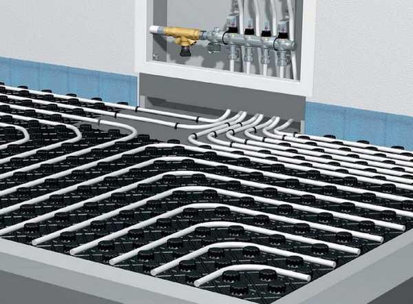 Полистирольные плиты со сформованными каналами для труб — это еще и теплоизолятор