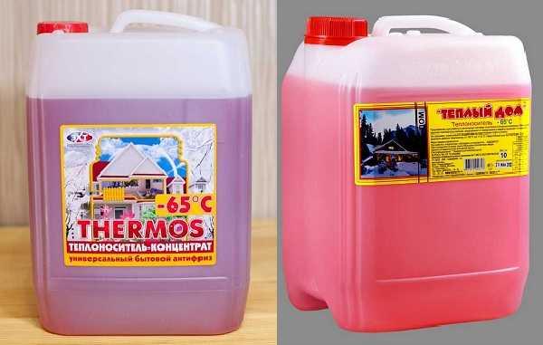 Антифризы на основе этиленгликоля имеют часто розовый цвет