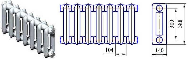 Габаритные размеры MC-140-300