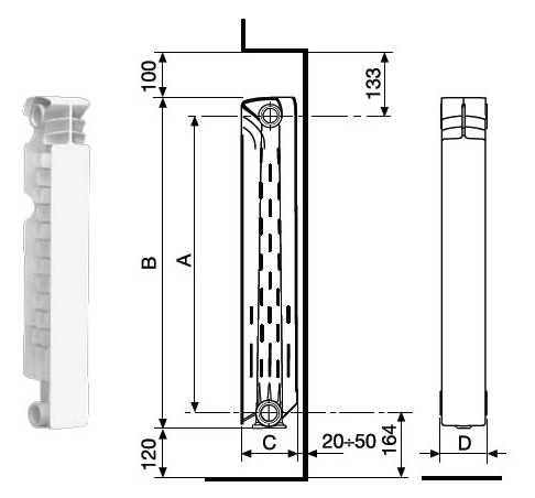 Габаритные размеры ExtraTherm Serir S5