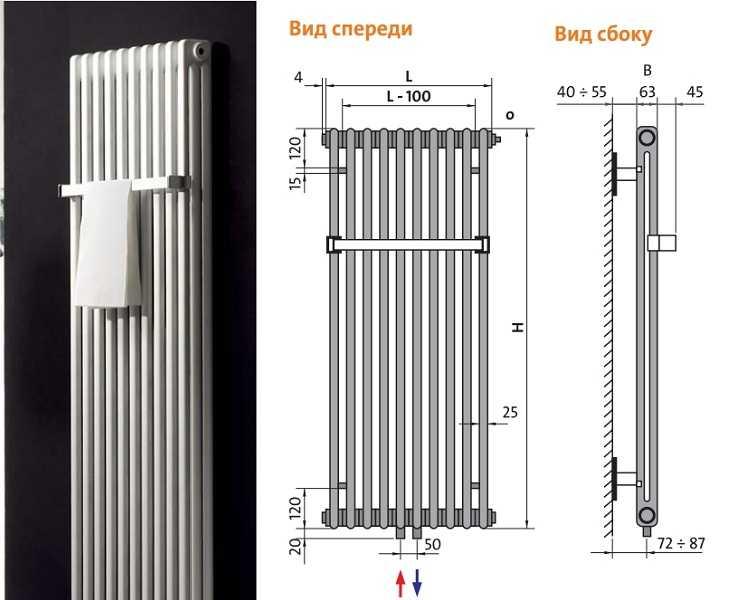 Вертикальный трубчатый радиатор Delta Twin M