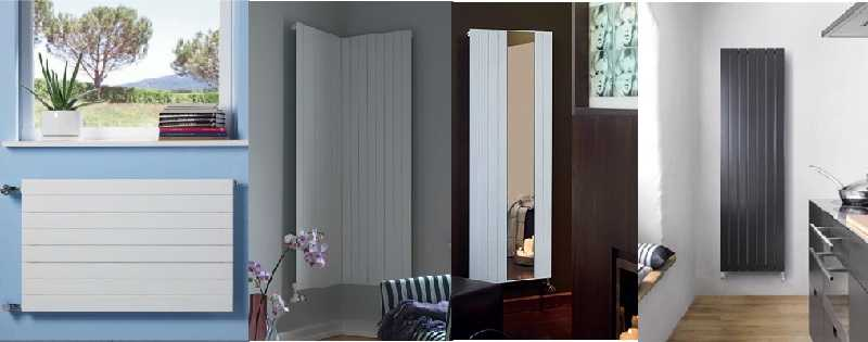 Высокие радиаторы Zehnder Nova  и Zehnder Nova Mirror - стильные и элегантные