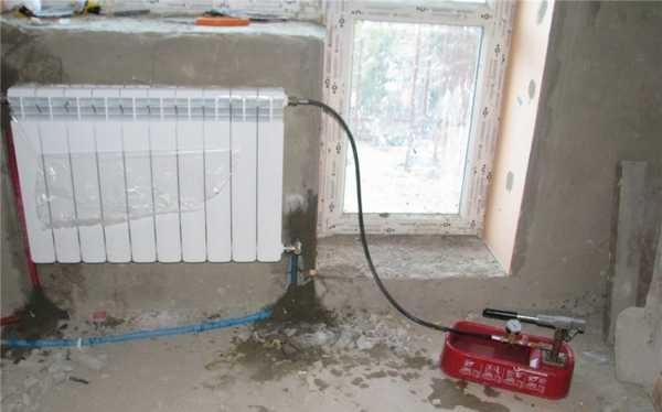 Так происходит тестирование радиатора и его обвязки перед пуском (опрессовка избыточным давлением)