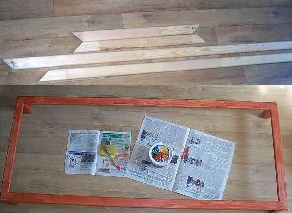При изготовлении деревянной решетки первым делом  нужно сделать рамку
