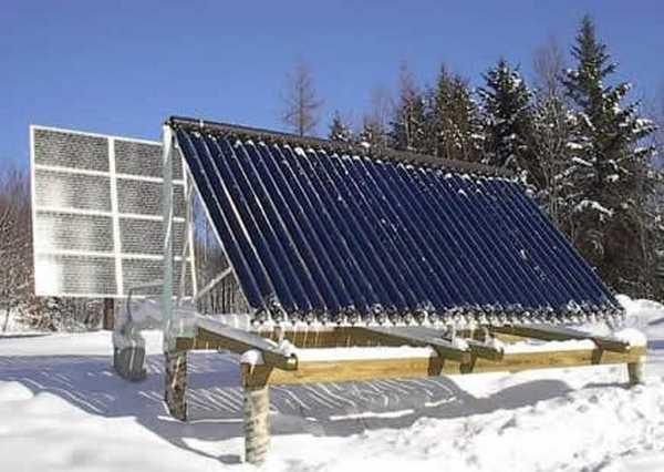Эффективность солнечных нагревателей сильнее зависит от наличия солнца, чем от температуры