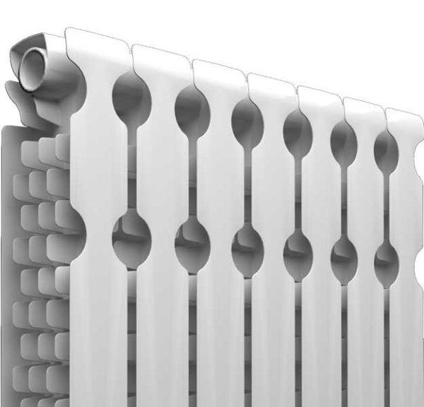 Задняя панель алюминиевых радиаторов этой марки имеет довольно большие отверстия