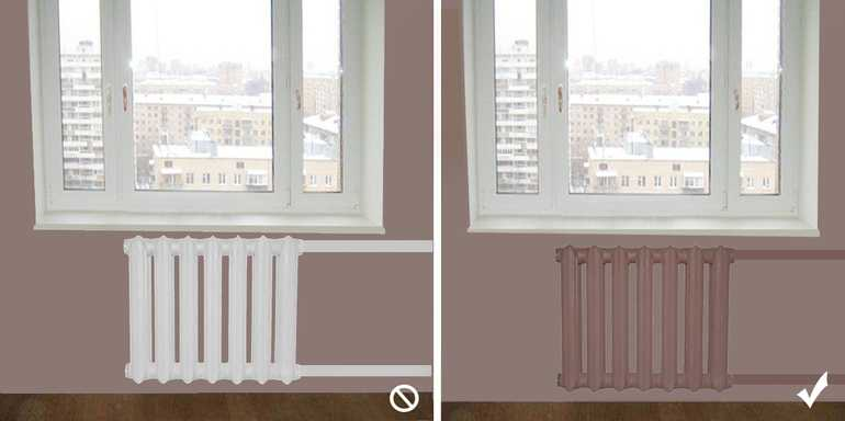 Белый радиатор хорошо смотрится только на белой, или очень светлой стене. На остальных его нужно красить в тон стены