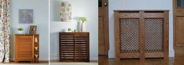 Один из вариантов - придать экрану для радиатора вид предмета мебели