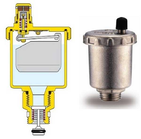 Воздухоотводчик автоматический для радиатора принцип работы