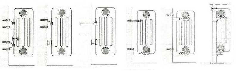 Способы использования разного рода крепежа для секционных радиаторов