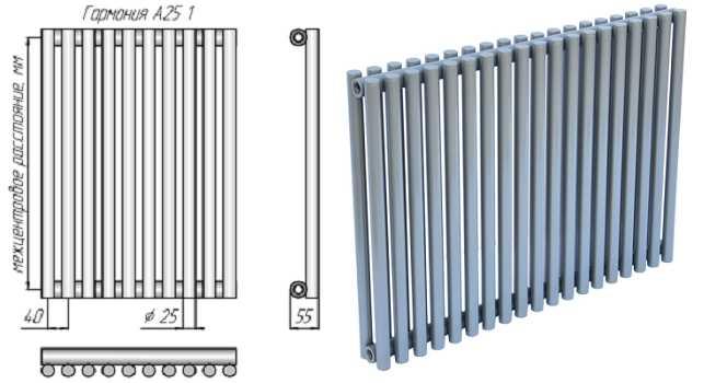 Радиатор из труб малого диаметра