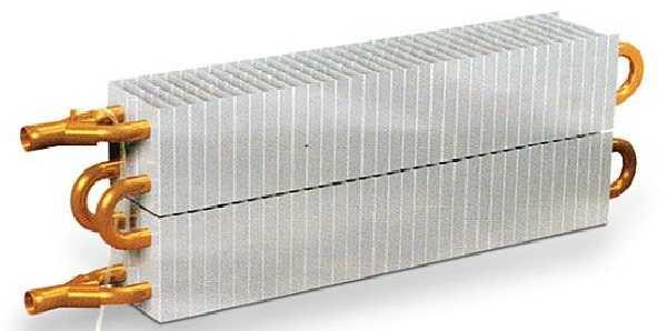 Конструкция медно-алюминиевого радиатора или конвектора