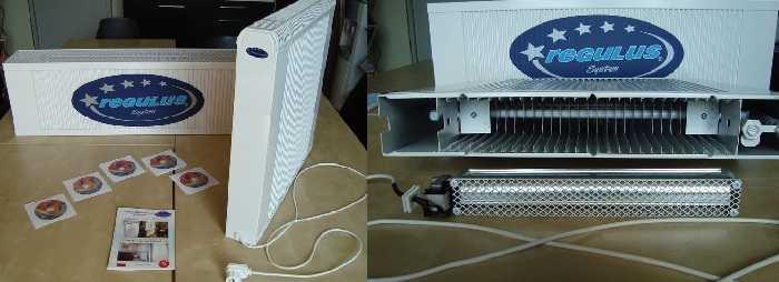 Медно-алюминиевый радиатор со встроенным вентилятором
