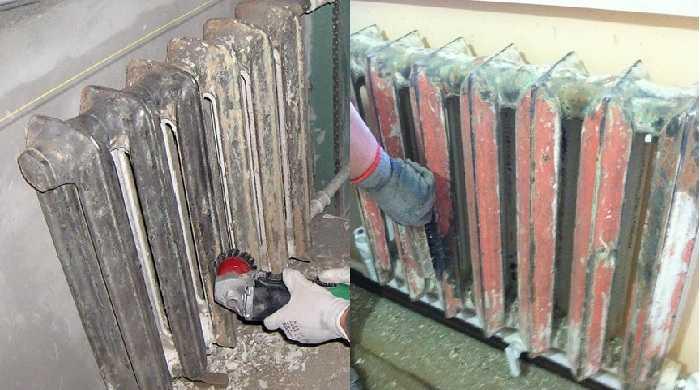 Для обработки радиатора наждачной бумагой нужно немалое терпение