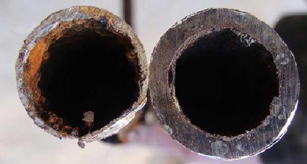 Разница между новой и использованной трубой очевидна