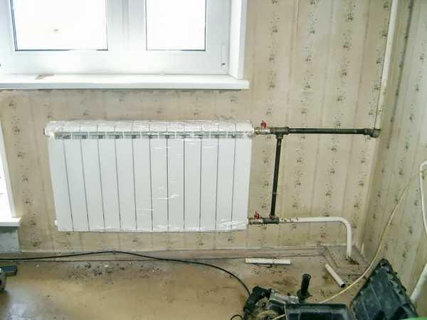 Так правильно подключать радиатор при однотрубной вертикальной разводке: шаровые краны и байпас