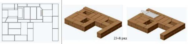 23-й ряд порядовки печи-шведки с тремя режимами. Своими руками сделать по подробной инструкции несложно