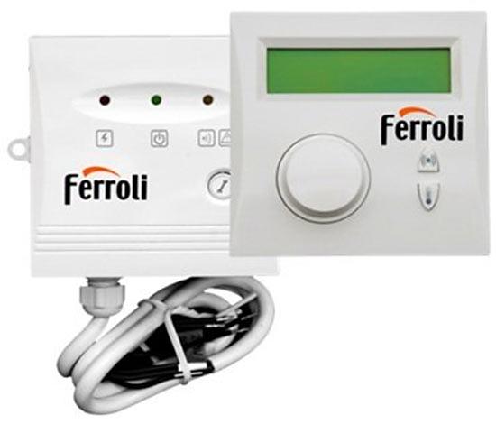 Беспроводный аналоговый двухпозиционный терморегулятор Ferroli FABIO 1W (вкл/выкл) с суточным программированием
