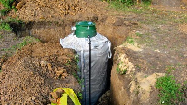 Вертикальный газгольдер занимает меньше площади на участке