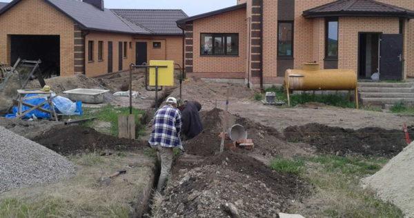 Подключение газа к дому предполагает некоторые строительные работы