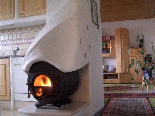 Отопление частного дома без газа и электричества: традиционное решение - печь на дровах