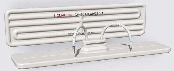 Керамические инфракрасные обогреватели с интегрированными греющими элементами могут выглядеть и так. Но далеко не всегда видно, как уложен нагреватель. Может быть ровная с обоих сторон панель