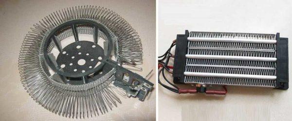 Нагревательные элементы, которые могут быть установлены в электротепловентиляторах