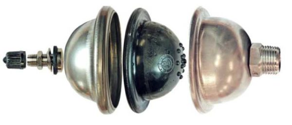 Мембранный амортизатор гидравлических ударов в системах отопления и водоснабжения