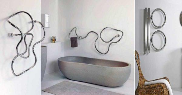 Некоторые полотенцесушители служат и для украшения интерьера